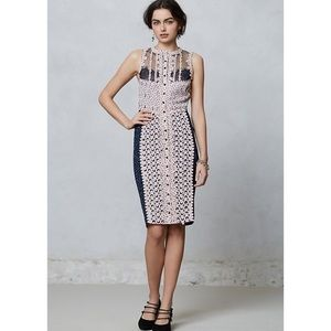 Anthropologie Byron Bars láser cut dress